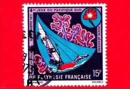 POLINESIA FRANCESE - Usato - 1971 - Giochi Del Sud Pacifico - Sailing - 15 P. Aerea - Usati
