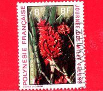 POLINESIA FRANCESE - Usato - 1971 - Flora - Giornata Dei Mille Fiori - Flowers - 8 - Usati