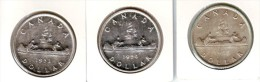 Canada Silver Dollars UNC 1953 - 1954 - 1955 - Canada