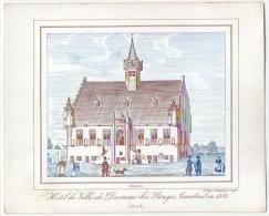 Carte Porcelaine. Damme-lez-Bruges. Hôtel De Ville, Construit En 1182.  (1843) - Brugge