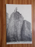 CHAMONIX Au Sommet D'une Aiguille  Années 20 - Alpinisme
