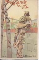 Job L'escalade Scoutisme Scouts Publicité La Belle Jardinière Léger Pli Année 1910 - Illustrateurs & Photographes