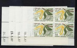Monaco Préoblitérés   94 97 Le Chataignier  Bloc De 4 Coin Daté 2 87 Neuf ** TB MNH SIN CHARNELA Cote 35 - Monaco