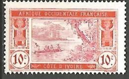 COTE D�IVOIRE  N� 45 PAPIER COUCHE NEUF**  SANS CHARNIERE  / GOMME COLONIALE / MNH