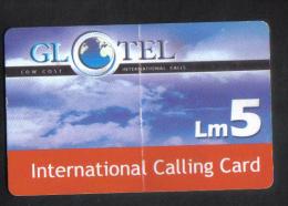 MALTA - GLOTEL PHONECARD  LM5 USED - Malta
