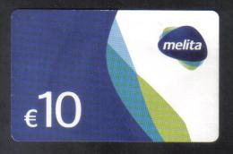 MALTA - MELITA  PHONECARD  10 EUROS USED - Malta