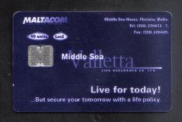 MALTA -  MALTACOM   PHONECARD  ( LM2 ) USED - Malta