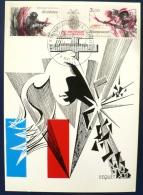 FRANCE 2eme Guerre Mondiale, ANNIVERSAIRE DE LA LIBERATION Yvert N°2313A Carte Maximum - 2. Weltkrieg
