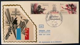 FRANCE 2eme Guerre Mondiale, ANNIVERSAIRE DE LA LIBERATION Yvert N°2313A FDC - 2. Weltkrieg
