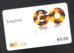MALTA -  EASYLINE GO PLUS PHONECARD  ( 5 EUROS  ) USED - Malta