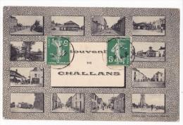 CHALLANS. - SOUVENIR. Multivues - Challans