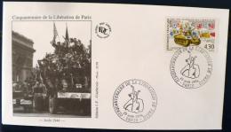 FRANCE 2eme Guerre Mondiale, Hommage Aux MAQUIS 1944 1994. Yvert N°2876 FDC Cinquantenaire De La Liberation - 2. Weltkrieg