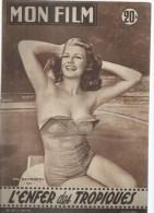 "MON FILM  N° 587 - 1957 "" L'ENFER DES TROPIQUES  "" RITA HAYWORTH / R. MITCHUM + "" UNE ILE AU SOLEIL "" JAMES MASON - Cinema"