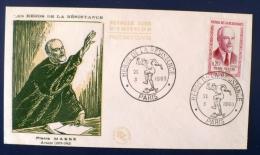 FRANCE Heros De La Résistance. Yvert 1249 FDC, Enveloppe 1er Jour. Pierre MASSE - 2. Weltkrieg
