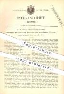 Original Patent - Dr. M. Hipp In Neuchâtel , Schweiz , 1883 , Mikrophon , Mikrofon , Sprechorgan , Schallwellen !!! - Documents Historiques