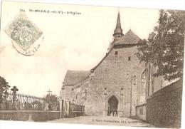 SAINT-MÉEN - Cimetière - église - Francia