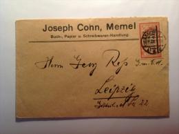 Memel 1922 Type Merson Surcharge 6 Mark Sur Lettre (Memelgebiet, Brief, Cover) - Memel (1920-1924)