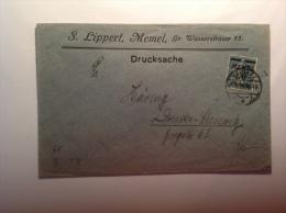 Memel 1922 Type Semeuse Surchargée 50 Pfennig Sur Lettre TARIF IMPRIMÉE (Memelgebiet, Drucksache, Brief, Cover)