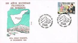 13677. Carta SANTA CRUZ TENERIFE (Canarias) 1984. 100 Años Sociedad - 1931-Today: 2nd Rep - ... Juan Carlos I
