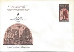 """Germany (DDR)  1988 Umschlage  """"Leipziger Fruhjahrsmesse""""  (*) Mi.U8   """"Juniorsachsenschau"""" - Buste Private - Nuovi"""