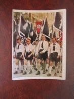 HJ Hitlerjugend Swastika Hakenkreuz 255 Nazi NS Propaganda Salem Zigarettenbild Der Kampf Ums Dritte Reich - Cigarette Cards