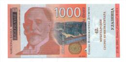 PHANTASY BANKNOTE 1000 DINARA  (numizmatics Tickets) YEAR 2001 - Serbia