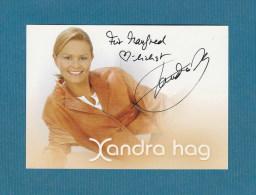 Xandra Hag (  Deutsche Sängerin)    - Persönlich Signiert - Autographs