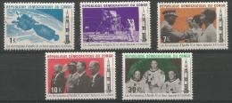 République Démocratique Du Congo - 748/752 - Apollo XI - 1970 - MNH (Sans Charnières) - République Démocratique Du Congo (1964-71)