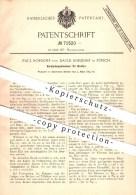 Original Patent - Paul U. David Rordorf , Zürich , 1893 , Verbindungsklammer Für Bretter , Brett , Holz , Bau , Tischler - Documents Historiques