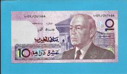 MOROCCO - 10 DIRHAMS - 1987 ( 1991 ) - Pick 63.a - Sign. 10 - King Hassan II - BANK AL MAGHRIB - MAROC - Marruecos