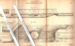 Original Patent - A. Ringel In Riesa , 1878 , Mechanismus Für Drehbrücke , Brücke !!! - Architektur