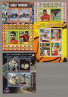 Mint MNH (**) 5 BF Block Sport Football Soccer Athletic Space Rocket Motorcycle - Vignettes De Fantaisie