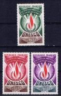 F+ Frankreich UNESCO 1969 Mi 9-11 Mnh Dienstmarken: Flamme - Neufs