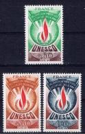 F+ Frankreich UNESCO 1975 Mi 13-15 Mnh Dienstmarken: Flamme - Neufs