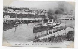 BOULOGNE SUR MER - N° 52 - VUE PRISE DE LA BATTERIE DE CHATILLON -  BATEAU - CPA NON VOYAGEE - Boulogne Sur Mer