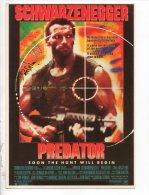 """AFFICHE DU FILM . SCHWARZENEGGER """" PREDATOR """" - Ref. N°10409 - - Affiches Sur Carte"""