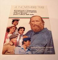 CARTOLINA POSTALE IN FRANCHIGIA 4 NOVEMBRE 1981 GARIBALDI NUOVA 7° DIREZIONE GENIO MILITARE FIRENZE - Personaggi