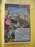 PUB38  CPA - CHEMINS DE FER DU MIDI - STATIONS HIVERNALES ET BALNEAIRES DANS LES PYRENEES (VOIR SCANS RECTO VERSO) - Advertising