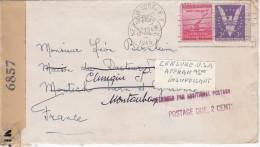 Lettre Avec  Censure Américaine 6857 + Taxe Postage Due 2 C Pour Montauban - Militaria