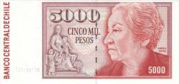 CHILE P. 155e 5000 P 2005 UNC - Chile