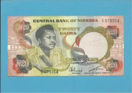 NIGERIA - 20 NAIRA - ND ( 1977 - 84 ) - P 18e - Sign. 6 - Serie C/21 - CENTRAL BANK OF - Nigeria