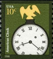 2006 USA American Clock Coil Stamp Sc#3762 History Eagle - Clocks