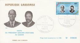 PREMIER JOUR . VISITE DU PRESIDENT GISCARD D´ESTAING AU GABON . 5 AOUT 1976 . LIBREVILLE .TDA1 - Gabon (1960-...)