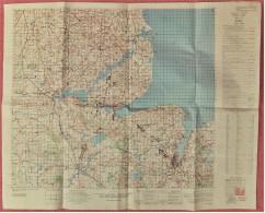Alte Strassenkarte Von Kiel Und Umgebung  -  Mit Puplikationen Vom Weltkrieg 1944  - Maßstab 1 :100.000  - - Strassenkarten