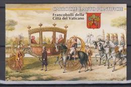 Booklet, Carnet, Vatican Sc1029-32 Papal Carriages, Automobiles, Car, Citroen... - Papes