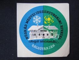 HOTEL MISC PENSION NOGRAD SALGOTARJAN BUDAPEST HUNGARIA HUNGARY HONGRIE DECAL STICKER LUGGAGE LABEL ETIQUETTE AUFKLEBER - Hotel Labels