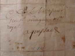 LETTRE 1700 CORCONNE A QUISSAC Contrat Du Moulin - Marcophilie (Lettres)