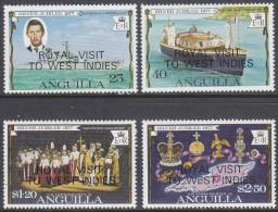 ANGUILLA, 1977 ROYAL VISIT O/PRINTS 4 MNH - Anguilla (1968-...)