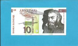 SLOVENIA - 10 TOLARJEV - 1992 - Pick 11 -  UNC. - Prefix GJ - Banka Slovenije - 2 Scans - Slovénie