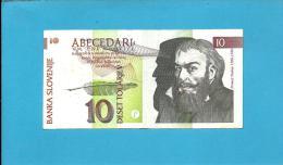 SLOVENIA - 10 TOLARJEV - 1992 - Pick 11 - Prefix PT - Banka Slovenije - 2 Scans - Slovénie